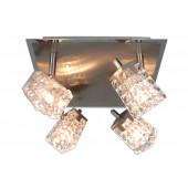 Luminaire Näve moderne métallique|transparent