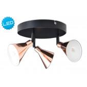 Luminaire Näve moderne couleur rouille|noire