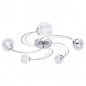 Luminaire EGLO moderne chrome|métallique|argent|transparent