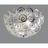 Luminaire Trio démodé chrome|métallique