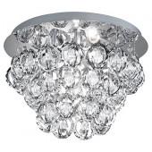 Luminaire Trio moderne chrome|transparent