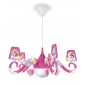 Luminaire Philips classique rose vif blanche