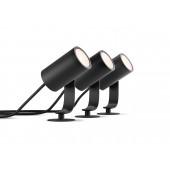 Lily, LED, Schwarz, 3er Set, WACA, 3x640lm, Basis-Set, IP65
