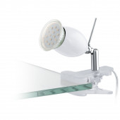 Luminaire EGLO moderne chrome transparent blanche