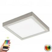 Fueva-C, LED, 30 x 30 cm, Farbwechsel, CCT, Nickel-matt
