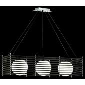 Luminaire Trio moderne chrome|noire|blanche