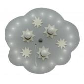 étoile nuage LED 3/20 argent