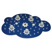 étoile nuage LED 5/40 bleu foncé