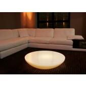 Lounge Variation Intérieur, E27, hauteur 18 cm, diamètre 84 cm, y compris plateau en verre