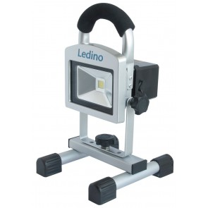 LED-Akkustrahler 10W Köpenick 105, 5,2 Ah, sillber
