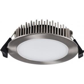 Einbaustrahler LED, 13W, IP54, nickel gebürstet