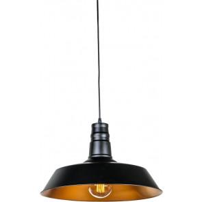 Luminaire Heitronic démodé couleur rouille|noire