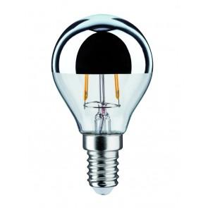 LED Tropfen 2,5W E14 230V Kopfspiegel Silber 2700K