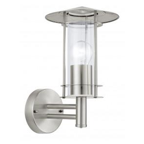 Luminaire EGLO moderne métallique argent transparent