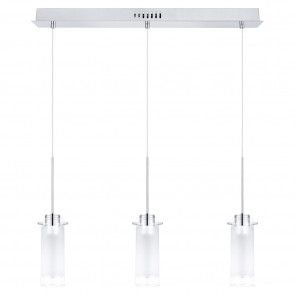 Luminaire EGLO moderne chrome|transparent|blanche