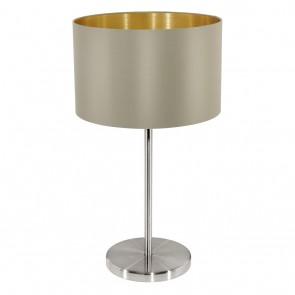 Maserlo, TL Ø 23 cm, H 42 cm, taupe-gold