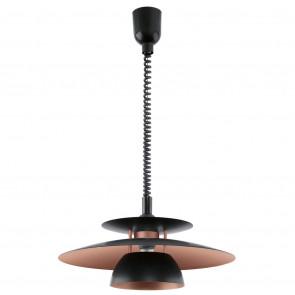 Luminaire EGLO démodé marron|métallique|noire