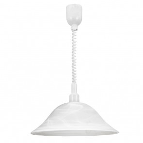 Alessandra, Ø 38 cm, Alabasterglas, höhenverstellbares Spiralkabel