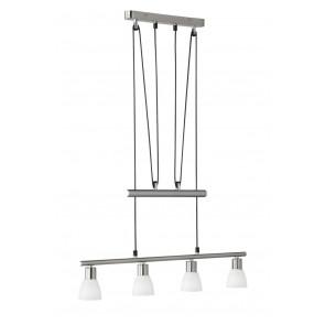 Luminaire Trio moderne métallique|argent|blanche