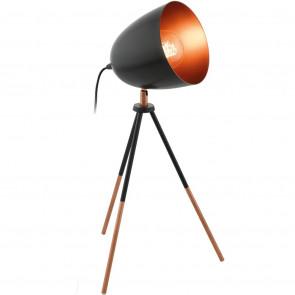 Luminaire EGLO démodé métallique noire