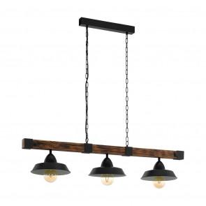 Luminaire EGLO rustique marron|noire