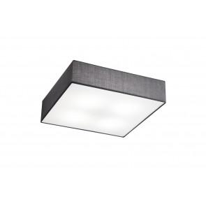 Luminaire Trio moderne gris métallique blanche