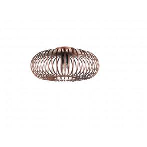 Luminaire Trio démodé marron|métallique|couleur rouille