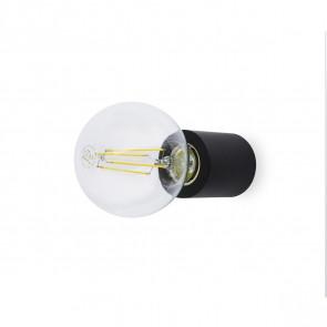 Luminaire Faro vintage noire|transparent