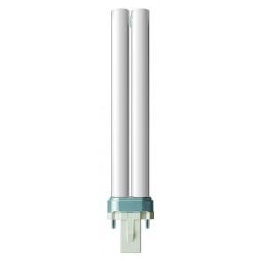 lampe à économie d´énergie PL-S 2-Pin, G23, blanc chaud, 10.000 Std., 9W