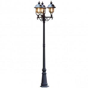 Parma, 3-lampes, hauteur 218 cm, inox Lampe à toît, noir