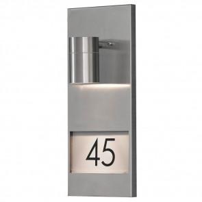 Modena, hauteur 41 cm, espace pour pour trois nombres, inox