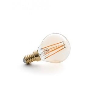 E14 LED Filament bersteinfarben, getöntes Glas 4W, 2200K, nicht dimmbar