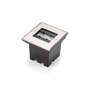 Bodenspot, LED, metallisch