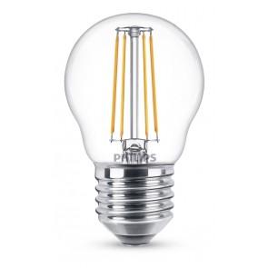 LED Classic E27 (P45) 4W (ersetzt 40W), 470lm, warmweiß 2700K, klar