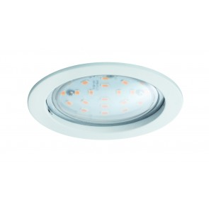 Premium EBL lot Coin claire rond rigide LED 1x14W 2700K 230V 75mm blanc mat/aluminium zinc