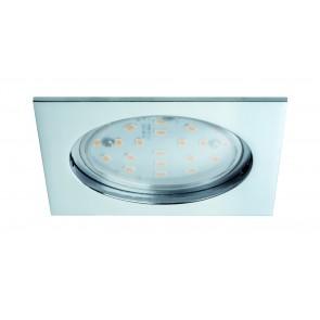 Premium EBL lot Coin claire carré rigide LED 1x14W 2700K 230V 75mm chrome/aluminium zinc