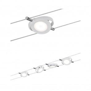 Wire Systems DC LED lot RoundMac 4x4W blanc mat 230V/12V DC 30VA métal