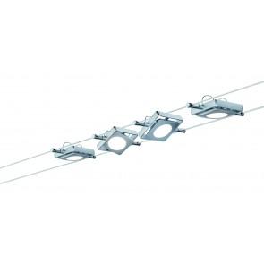Wire Systems DC lot MacLED 4x4W chrome mat 230V/12V DC 30VA métal