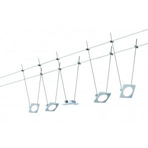 Wire Systems DC lot QuadLED 5x4W chrome mat 230V/12V DC 30VA métal