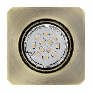 Peneto, 8,7 x 8,7 cm, inkl LED, brüniert