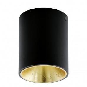 Polasso, LED, Ø 10 cm, schwarz-gold