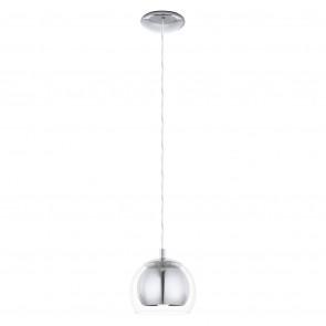 Luminaire EGLO futuriste chrome|transparent