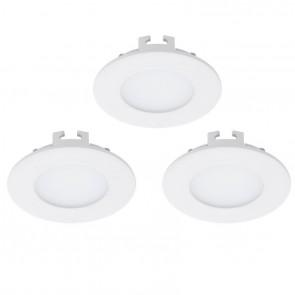 Fueva 1, LED, 3er-Set, Ø 8,5 cm, weiß
