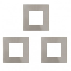 Fueva 1, LED, 3er-Set, 8,5 x 8,5 cm, 3000K, nickel-matt