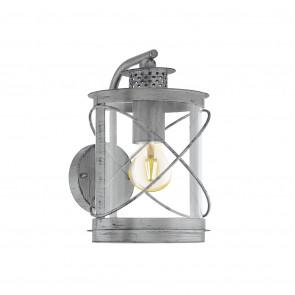 Luminaire EGLO rustique argent transparent