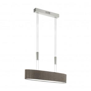 Luminaire EGLO moderne marron|chrome|métallique