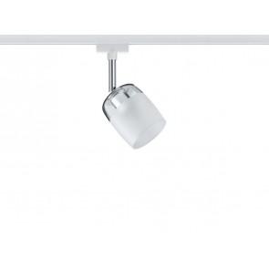 URail System Spot Blossom, max 1x10W G9 Weiß/Klar/Satin 230V Metall/Glas