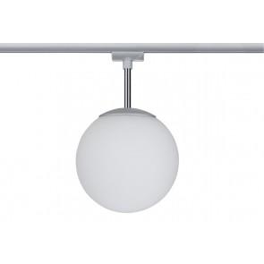 URail Ceiling Globe Small max 1x10W E14 Chr m/Opal 230V Metall/Glas dimmbar