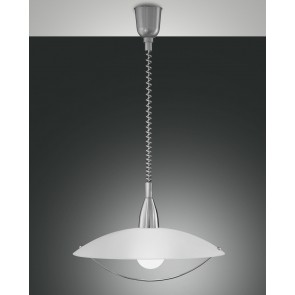 Savona, nickel satiniert/weiß, Glas, weiß, 1X75W