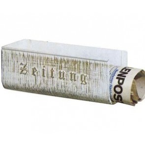 TAnneaule à journaux, aluminium, blanc-or
